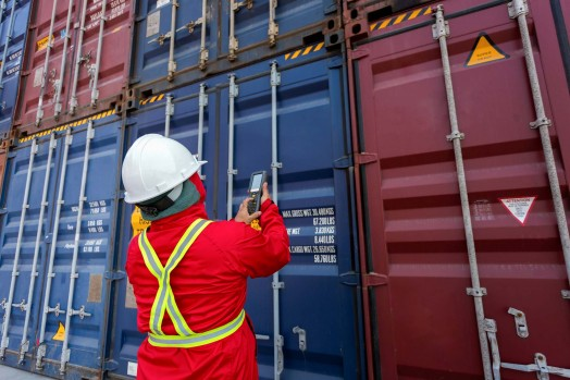 Container fumigation